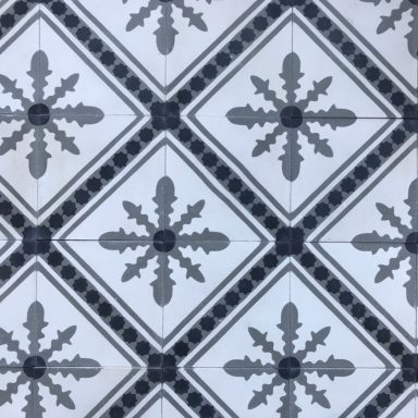 carreaux de ciment motif flocon