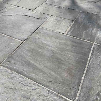 dallage grès gris clivé