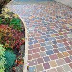 pavé grès multicolore en pierre naturelle