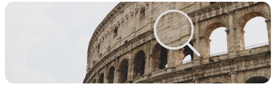 Origine du travertin le Colisée à Rome