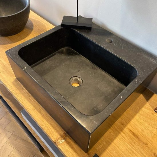 vasque rectangle large en pierre bleue